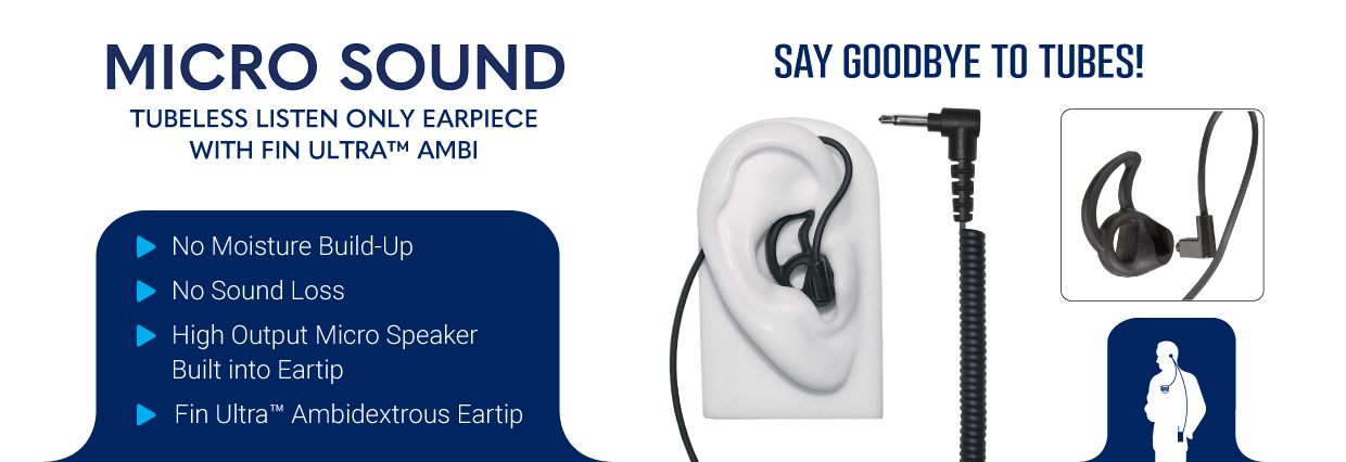 micro sound listen only ear phone